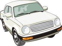 Beige car Stock Images