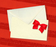 Beige card and envelope. Stock Images