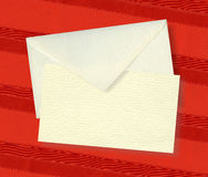 Beige card and envelope. Royalty Free Stock Photos