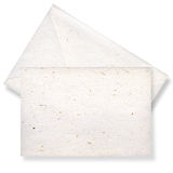 Beige card and envelope. Royalty Free Stock Photo