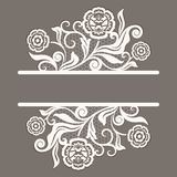Beige card with lace flower decoration. And copy space. Vector illustration Royalty Free Stock Image