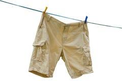 Beige cargo shorts Stock Image