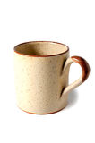 Beige ceramic mug Royalty Free Stock Photos