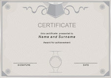 Beige certificate Royalty Free Stock Images