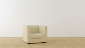 Beige chair in a bright room Stock Image