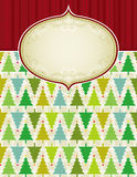 Beige christmas background,. Beige christmas background with christmas trees,   illustration Royalty Free Stock Photography