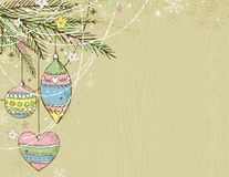 Beige christmas background,  Stock Photography