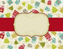 Beige christmas background,  Stock Image
