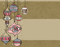 Beige christmas background Royalty Free Stock Photos