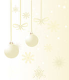 Beige christmas background Royalty Free Stock Image