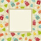 Beige christmas background Stock Images