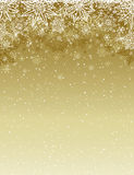 Beige christmas background with snowflakes and stars, vector royalty free stock image