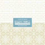 Beige christmas backgrounds with seamless patterns. Stock Photos