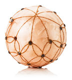 Beige Christmas balls isolated on the white background Royalty Free Stock Photography