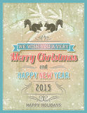 Beige christmas  card with decorative ornament, vector illustrat Royalty Free Stock Photo