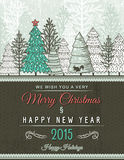 Beige christmas card with decorative ornament, vector. Illustration royalty free illustration