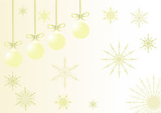 Beige christmas illustration Royalty Free Stock Photography