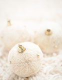 Beige Christmas Ornaments Stock Images
