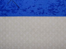 Beige cloth with blue stripe Royalty Free Stock Photos