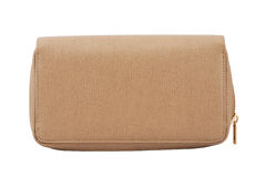 Beige clutch bag Royalty Free Stock Photography