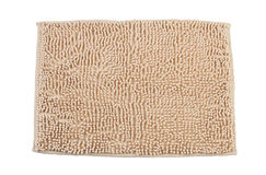 Beige color carpet or doormat. For cleaning feet Royalty Free Stock Images