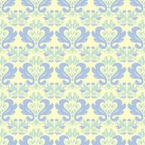 Beige colored floral seamless pattern. Background with light blue and green flower elements. For wallpapers, textile and fabrics Royalty Free Stock Photo
