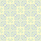 Beige colored floral seamless pattern. Background with light blue and green flower elements. For wallpapers, textile and fabrics Stock Photography