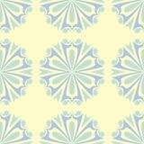 Beige colored floral seamless pattern. Background with light blue and green flower elements. For wallpapers, textile and fabrics Stock Photos