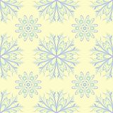 Beige colored floral seamless pattern. Background with light blue and green flower elements. For wallpapers, textile and fabrics Royalty Free Stock Photography