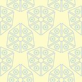 Beige colored geometric seamless pattern. Pale background. For wallpapers, textile and fabrics Stock Photo