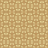 Beige Colors Art Nouveau Style Plant Pattern Royalty Free Stock Image