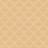 Beige Colors Damask Style Pattern design. Original Pattern and S Stock Photo