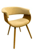 Beige comfortable armchair Royalty Free Stock Photography