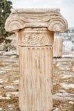 Beige Concrete Pillar Royalty Free Stock Photos