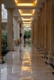 Beige corridor. In greater shop Stock Photo