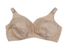 Beige cotton bra large size Stock Photo