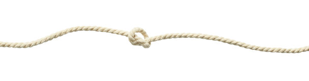 Beige cotton rope knot. Isolated on white Stock Photography