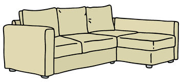 Beige couch Royalty Free Stock Photos