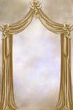 Beige curtain Royalty Free Stock Photos