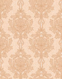 Beige damask Stock Photo
