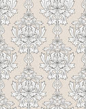 Beige damask background Royalty Free Stock Photo