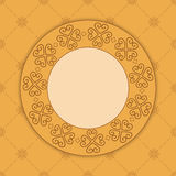 Beige decorative card with ornament - vector Stock Photos