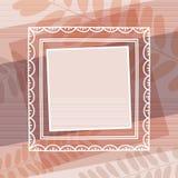 Beige dekorativer Hintergrund mit Feld, Vektor lizenzfreie abbildung
