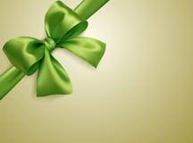 Beige diagonal för grön pilbåge Royaltyfri Foto