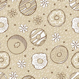Beige donate seamless pattern Royalty Free Stock Images