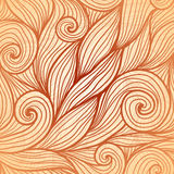 Beige doodle hair vector seamless pattern Stock Photos