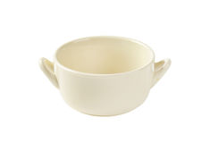 Beige Double Handle Soup Bowl Royalty Free Stock Image