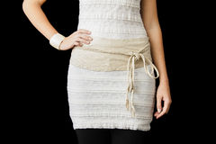 Beige Dress cropped at the Waist Royalty Free Stock Photo