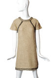 Beige dress on a mannequin Royalty Free Stock Images