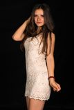 Beige dress Royalty Free Stock Images